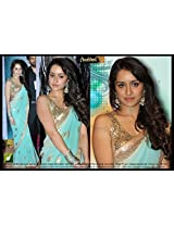 New Indian Bolywood Designer partywer Bridal Net Exclusive Shradhha kapoor Sky Blue saree