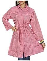 Rajrang Womens Khadi Pink Large Kurta