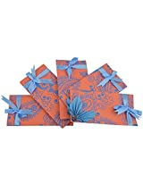 Twinkle Creation Handmade Paper Envelope With Leaves Design-19 cm X 9.5 cm