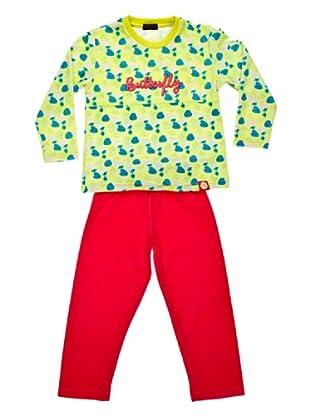 Blue Dreams Pijama Niña Infantil Tundosado (frambuesa)