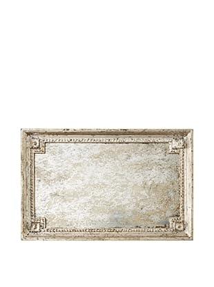 Venezia Rectangular Serving Tray, Antique Silver Leaf