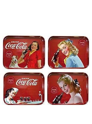 Set 4 Vassoi Melamina Coca Cola 33,2X26 cm