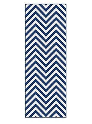 Universal Rugs Metro Contemporary Runner, Navy, 3' x 8'