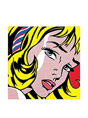 Artopweb Panel Decorativo Lichtenstein Girl With Hair Ribbon, 1965 - 60X61 cm