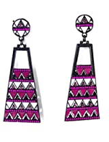 Jigsaw Purple Earrings