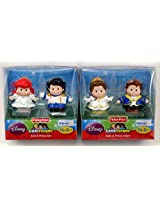 Fisher-Price Little People Disney Princess - Ariel & Prince Eric And Bell & Prince Adam