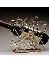 1PC Fashion Wine Rack Bar Wine Glass Rack Generous Creative Wine Holder Europen Style Bottiglia Di Vino Titolare (Gold)