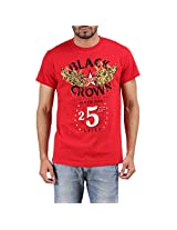 Mens Black Crown Graphic Red T Shirt