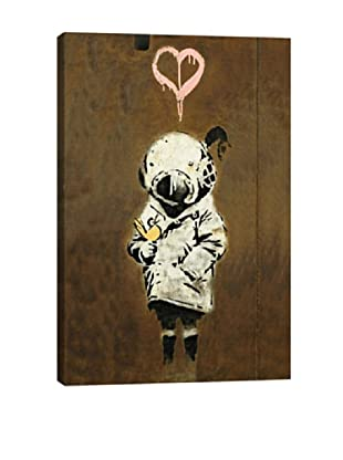 Banksy Space Girl And Bird Giclée On Canvas