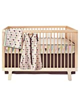 Skip Hop 4 Piece Bumper free Crib Bedding Set, Pretty Pennant (Discontinued by Manufacturer)