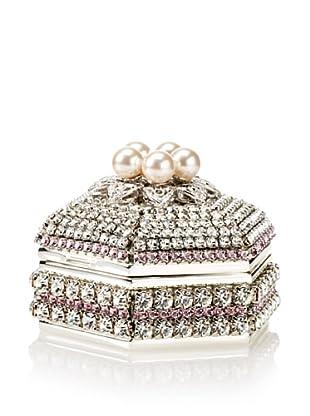 Isabella Adams Freshwater Pearl & Swarovski Crystal Hexagon Keepsake Box, June (Light Amethyst)