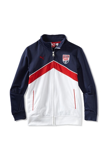 Puma Boys 8-20 USA Team Jacket (Blue)
