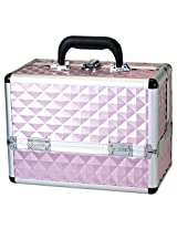 Danielle Make-Up Case Cosmetics Trunk, Pink