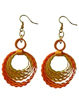 Designer's Collection Paper Quilling Ear Rings for Women-DSERC003_A