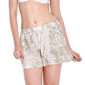 Chic Printed Shorts In Muted Green |XL