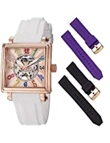 Stuhrling Original Women's 341.134614 Leisure Uptown Ozzie Rose Gold-Plated Automatic Watch with Three Interchangeable Bands