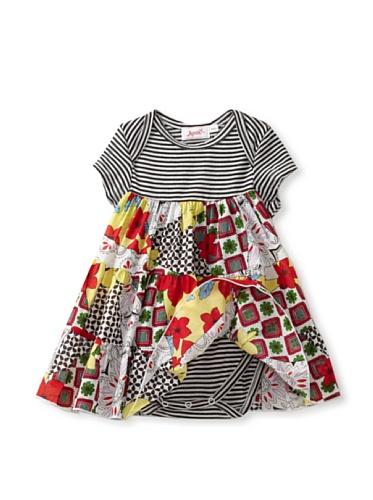 Jupon Baby Alice Overlay Dress (Red/black)
