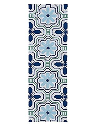 Kaleen Matira Indoor/Outdoor Rug, Ivory, 2' x 6' Runner