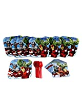 Avengers Cake Plate, Napkins, And Spoons Birthday Party Set For 8