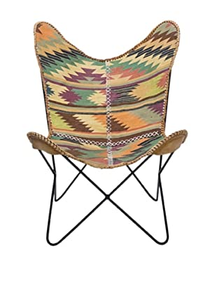 Kare Design Silla Butterfly Kilim Unique