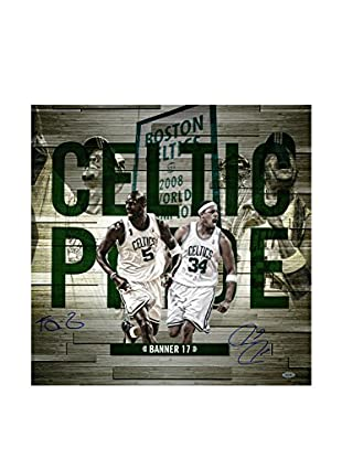 Steiner Sports Memorabilia Paul Pierce & Kevin Garnett Signed Celtic Pride Collage, Multi, 20