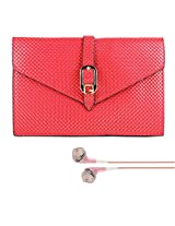 SumacLife Women's Red Diamond Clutch Case