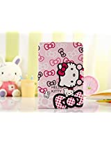 Hello Kitty Themed Flip Stand Leather Comprehensive Protection Cover Case for Apple iPad mini 1/2/3(Wallet Style Design With Card Slots)