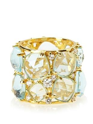 Crislu Aqua Candy Couture Ring