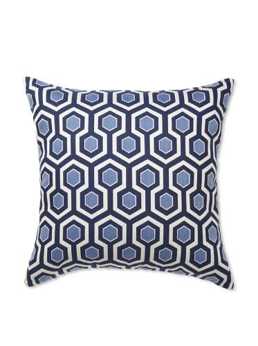 Elsa Blue Navy Coin Knife Edge Indoor/Outdoor Pillow, 20