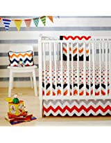 New Arrivals Zig Zag Baby 2 Piece Crib Bedding Set, Rugby