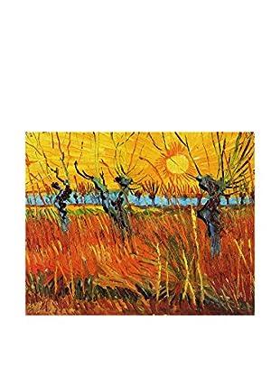 Legendarte Leinwandbild Salici Al Tramonto di Vincent Van Gogh