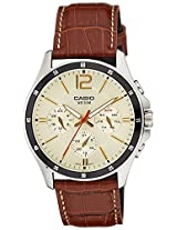 Casio Enticer Analog beige Dial Men's Watch  - MTP-1374L-9A2VDF (A1046)
