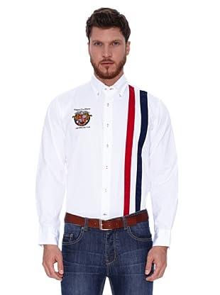 Spagnolo Camisa Gabardina Bribón (Blanco / Azul)