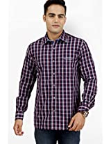 Checked Purple Casual Shirt Kingswood