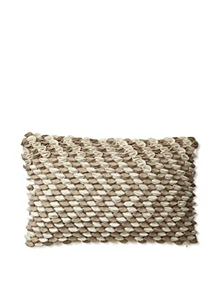 Zalva Neya Natural Decorative Pillow, Cream/Mocha, 12