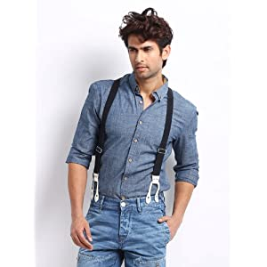 Voi Jeans Men Blue Denim Slim Fit Casual Shirt