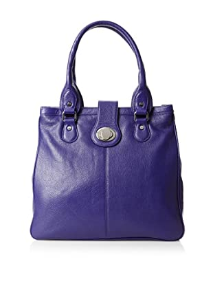 Bodhi Women's Candy Turnlock Tote, Electric Purple