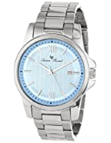 Lucien Piccard Men's 10048-12 Breithorn Light Blue Textured Dial Stainless Steel Watch
