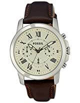 Fossil Chronograph White Dial Men's Watch - FS4839