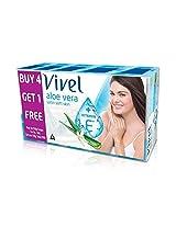 Vivel Aloe Vera Soap, 4x150g + 1 Free