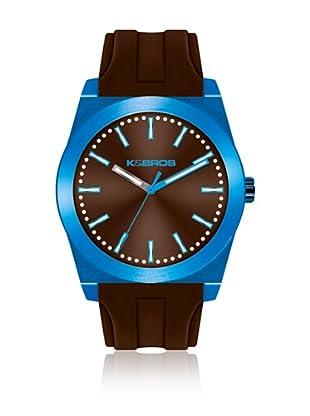 K&BROS Reloj 9560 (Azul / Marrón)