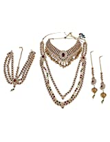 Exclusive Brass Made Full Bridal Necklace Set For Women's Wedding Jewelry