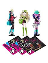 Mattel Monster High Dolls, 3 Brand Boo Students, Batsy Claro Kjersti Trollsn And Isi Dawndancer With Free Gift Bags