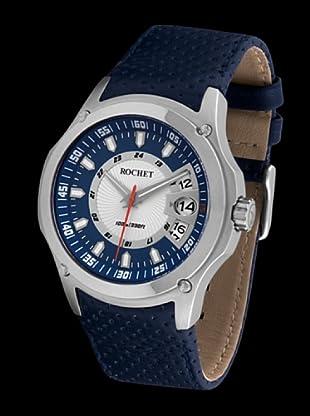 Rochet W090516 - Reloj de Caballero movimiento cuarzo con correa de piel Azul
