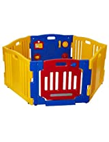 Dream On Me Baby Town Playard II, Yellow/Blue