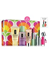 Clinique 2014 7 Pcs Gift Set Including Dramatically Different Moisturizing Lotion +, Take The Day Off, Lipstick, Lash Doubling Mascara, Even Better Makeup Foundation, Nail Polish And Cosmetic Bag
