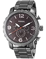 Fossil End-of-season Nate stopwatch Analog Brown Dial Unisex Watch - JR1355