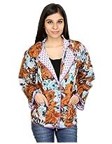 Rajrang Womens Cotton Jacket -Multi-Color -Medium