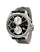 Hamilton Jazzmaster Chronograph Grey Dial Black Leather Men's Watch