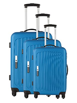 Platinium Set 3 Trolleys 4 Ruedas Tonga (Azul)